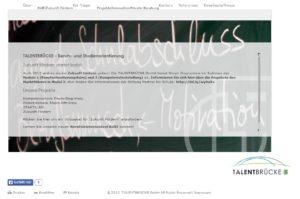 Potentialcheck Impression der TALENTBRÜCKE Seite 2012