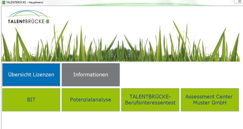 Potenzialanalyse Software - Demoansicht