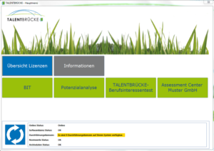 Testauswertung mit der TALENTBRÜCKE Software